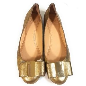 Tory Burch Women Rustic Gold Loafers Size 7.5 M